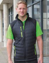 Black Compass Padded Soft Shell Gilet